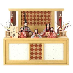 雛人形 一秀 ひな人形 雛 木目込人形飾り コンパクト収納飾り 五人飾り 木村一秀作 安土雛 入れ目 18号A 桐収納 h023-ii-035 asutsuku-ningyoya