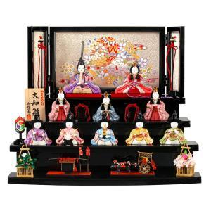 雛人形 一秀 ひな人形 雛 木目込人形飾り 段飾り 十人飾り 木村一秀作 大和雛 12号 h023-ik-002|asutsuku-ningyoya
