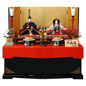 雛人形 久月 ひな人形 雛 コンパクト収納飾り 親王飾り 着付 二世光匠 大礼雛 正絹有職 小三五親王 h023-k-2630 K-19|asutsuku-ningyoya