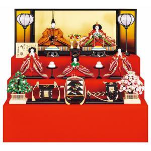 雛人形 吉徳大光 ひな人形 雛 三段飾り 五人飾り 小出松寿作 京みやび 有職束帯十二単 黄櫨染 京七番親王 七寸官女 h023-ys-306208|asutsuku-ningyoya