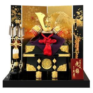 五月人形 久月 兜平飾り 兜飾り 正絹赤糸縅 8号兜 富士に松二曲屏風 h025-k-11100 K-112|asutsuku-ningyoya