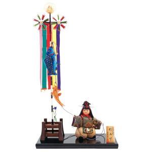 五月人形 久月 平飾り 木目込人形飾り 浮世人形 真多呂作 古今人形 引上げ h025-k-3516 D-84|asutsuku-ningyoya