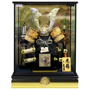五月人形 久月 コンパクト 兜ケース飾り 兜飾り 12号兜 取付ケース入 アクリルケース オルゴール付 h025-k-k51820 D-74|asutsuku-ningyoya