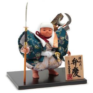 五月人形 久月 弁慶 武者人形 祥巧作 七つ道具 5号 化粧箱 祥印5 h025-k-syouin5 K-141|asutsuku-ningyoya
