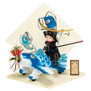 五月人形 豊久 伊達政宗 子供大将飾り 武者人形 平飾り 鈴甲子雄山 壱三作 わんぱくパイロット伊達 手描き屏風 h025-mo-503251 GE-045 asutsuku-ningyoya