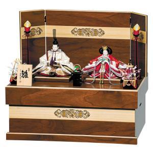 雛人形 平安豊久 ひな人形 雛 コンパクト収納飾り 親王飾り ちひろ 小三五親王揃 h033-mo-...