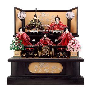 雛人形 ひな人形 雛 三段飾り 五人飾り 黒木目 h22-aki-kuromoku3