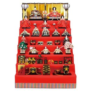 雛人形 ひな人形 雛 七段飾り 十五人飾り 雅泉作 雛つづり 十番親王 三五官女 h023-fz-4e18-aa-801|asutsuku-ningyoya