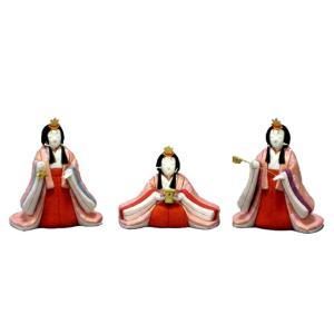 雛人形 幸一光 ひな人形 コンパクト 雛 木目込人形飾り 官女単品 官女セット 中 人形のみ 正絹 受注生産 h033-koi-4132|asutsuku-ningyoya