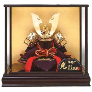 五月人形 久月 コンパクト 兜ケース飾り 兜飾り 上原玉鳳作 正絹色々縅 8号 大鍬形兜 No.30ケース入り h025-k-73007 K-94|asutsuku-ningyoya