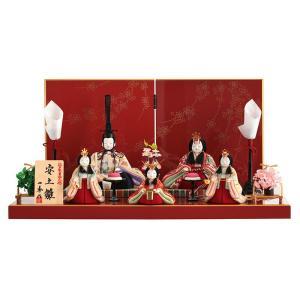 雛人形 一秀 ひな人形 雛 木目込人形飾り 平飾り 五人飾り 木村一秀作 安土雛 18号 h023-ii-039|asutsuku-ningyoya