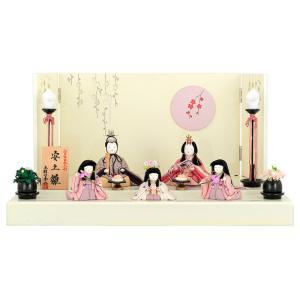 雛人形 ひな人形 雛 一秀 平飾り 五人飾り 木目込み人形 一秀作 安土雛 2号 h243-is-031 asutsuku-ningyoya