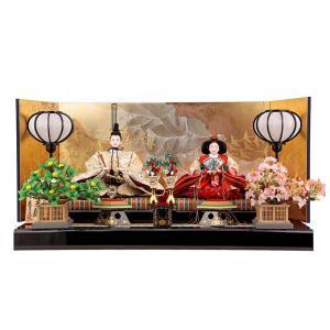 雛人形 ひな人形 雛 久月 平飾り 親王飾り 清水文平作 正絹帯地 東京久月監製 h243-kcp-s24556c|asutsuku-ningyoya