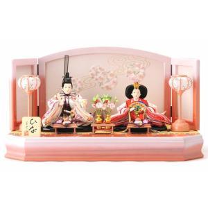 2019年度新作 雛人形 人気工房のおひなさま 春らしいピンクのぼかし加工が美しい親王飾りです。衣裳...