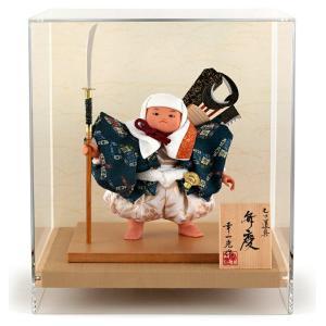 五月人形 幸一光 松崎人形 武者人形 ケース飾り 五号 弁慶 七ツ道具 アクリルケース h025-koi-5151|asutsuku-ningyoya