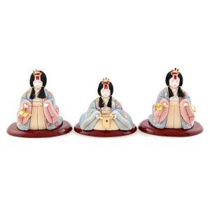 雛人形 一秀 ひな人形 雛 木目込人形飾り 官女単品 木村一秀作 三人官女のみ 15-1号 h023-il-002|asutsuku-ningyoya