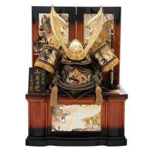 五月人形 着用 兜飾り 兜収納飾り 大着用兜 清龍作 着用兜 30号 正絹糸縅 彫金細工 御着用兜 兜飾り h265-sb-s-1-oh|asutsuku-ningyoya