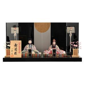 雛人形 一秀 ひな人形 雛 木目込人形飾り 平飾り 親王飾り 木村一秀作 舞菊雛 友禅 17号A h023-ij-002|asutsuku-ningyoya