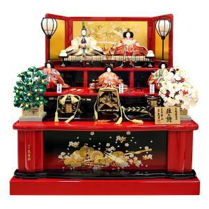 雛人形 久月 ひな人形 雛 三段飾り 五人飾り 着付師 華山 雛の詩 七番親王 七寸平安三賢女付 久月オリジナル頭 h023-k-5830 K-15|asutsuku-ningyoya
