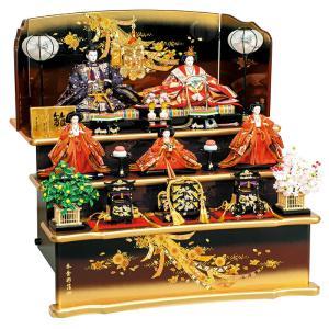 雛人形 平安豊久 ひな人形 雛 三段飾り 五人飾り 清雅 九番親王 大三五官女揃 h023-mo-303879 HE-011|asutsuku-ningyoya