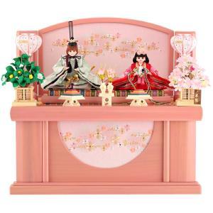 雛人形 ひな人形 リカちゃん 久月 コンパクト収納飾り 親王飾り ピンク シリアルナンバー付 h02...