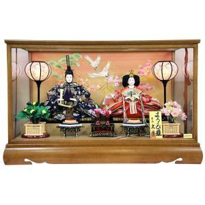 雛人形 久月 ひな人形 雛 ケース飾り 親王飾り よろこび雛 小十番親王 オルゴール付 h023-k-9831|asutsuku-ningyoya