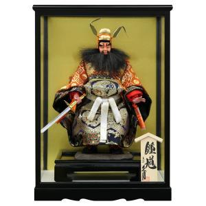 五月人形 久月 鍾馗人形 ケース飾り 武者人形 4号 極上鍾馗 ケース入 h025-k-s462 K-134|asutsuku-ningyoya