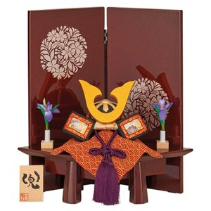 五月人形 一秀 兜平飾り 兜飾り 木目込人形飾り 木村一秀作 兜 h025-im-017|asutsuku-ningyoya