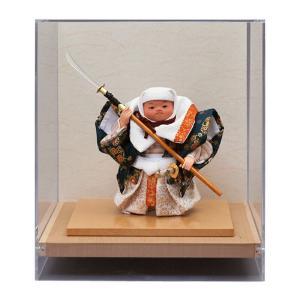 五月人形 幸一光 松崎人形 武者人形 ケース飾り 五号 弁慶 能弁慶 アクリルケース h025-koi-5150|asutsuku-ningyoya