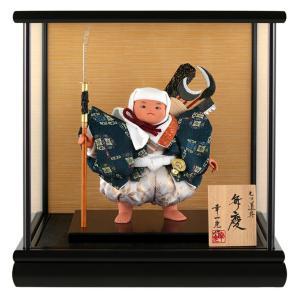 五月人形 幸一光 松崎人形 武者人形 ケース飾り 五号 弁慶 七ツ道具 黒塗カブセケース h025-koi-515h|asutsuku-ningyoya