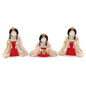 雛人形 幸一光 ひな人形 コンパクト 雛 木目込人形飾り 官女単品 小雪用 官女セット 目入頭 正絹 アクリル足付飾台付属 h033-koi-4324|asutsuku-ningyoya