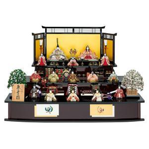 雛人形 真多呂 ひな人形 雛 木目込人形飾り 三段飾り 十五人飾り 真多呂作 古今段飾り 本金 朱雀雛 正絹 伝統的工芸品 h023-mt-1302|asutsuku-ningyoya