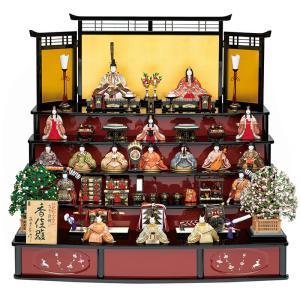 雛人形 真多呂 ひな人形 雛 木目込人形飾り 五段飾り 十七人飾り 真多呂作 古今段飾り 香佳雛 正絹 伝統的工芸品 h023-mt-1303|asutsuku-ningyoya