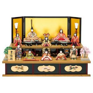 雛人形 真多呂 ひな人形 雛 木目込人形飾り 段飾り 十人飾り 真多呂作 古今段飾り 豊雅雛 h303-mt-1313|asutsuku-ningyoya