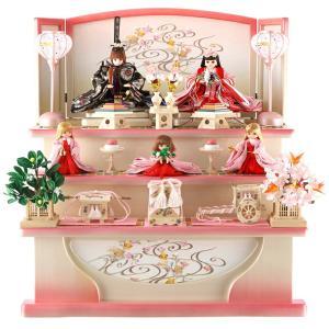 雛人形 ひな人形 リカちゃん 久月 ひな人形 三段飾り 五人飾り シリアル入 h313-ri-268
