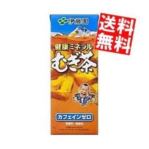 『送料無料』伊藤園 健康ミネラルむぎ茶 250ml紙パック 24本入 (ミネラル麦茶)