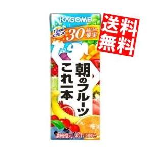 送料無料 カゴメ 朝のフルーツこれ一本 200ml紙パック 24本入 at-cvs