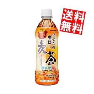 『送料無料』サンガリア あなたの香ばし麦茶 500mlペットボトル 24本入