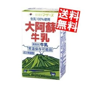 『送料無料』らくのうマザーズ 大阿蘇牛乳 250ml紙パック 24本入 『常温保存可能』