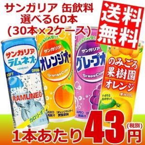 送料無料 サンガリア 缶飲料 選べる60本 (30本×2ケース)|at-cvs