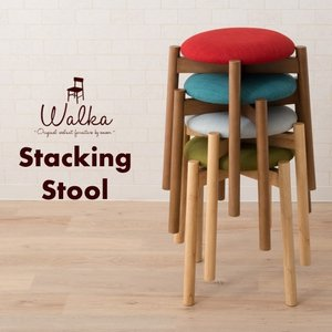 椅子 チェア ダイニングチェア 丸椅子 スツール スタッキングスツール 子供 軽量 家具 木製 天然木 北欧 シンプル 一人暮らし 新生活 送料無料 エムール|at-emoor