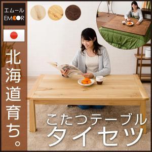日本製 ミズナラ こたつ コタツ 炬燵 テーブル 長方形 「タイセツ」 120×75cm こたつテーブル やぐら 本体 薄型ヒーター 木製 北欧 送料無料 エムール|at-emoor