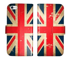 iPhone5s iPhone5 手帳型 ケース カバー ユニオンジャック グランジ