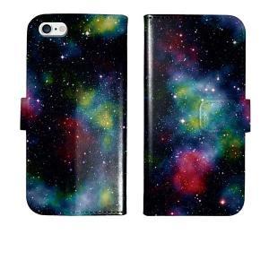 iPhone5s iPhone5 手帳型 ケース カバー 宇宙 宇宙柄