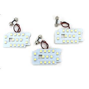 ハイエース 200系 DX パーツ LED ルームランプ 3点セット 超高輝度 SMD135灯 車内泊 室内灯 全年式適合 内装パーツ at-parts7117