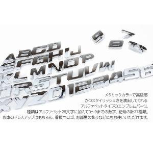 アルファベット エンブレム パーツ A〜Z/1~10 オリジナル イニシャル エンブレム ステッカー シール at-parts7117 02