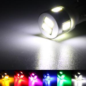 T10 LEDバルブ 6LED アルミヒートシンク 2個セット ルームランプ ポジション ナンバー灯...