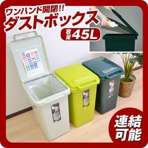 ごみ箱 ゴミ箱 ワンハンドペール 45L 蓋付 ダストボックス AZ-420|at-ptr