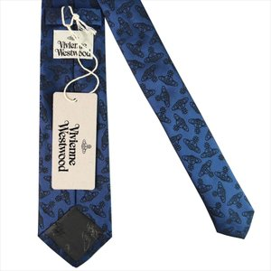 Vivienne Westwood ヴィヴィアン・ウェストウッド ネクタイ スリム約7cm オーブ柄 10037-CS-K219 NAVY BLUE slim|at-shop|03