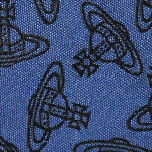 Vivienne Westwood ヴィヴィアン・ウェストウッド ネクタイ スリム約7cm オーブ柄 10037-CS-K219 NAVY BLUE slim|at-shop|04